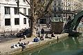 People on the Quai de Jemmapes, Paris 7 April 2015.jpg