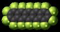 Perfluoropentacene molecule spacefill.png