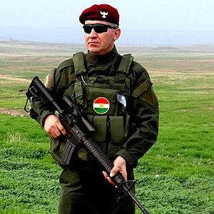 Peshmerga - Peshmerga soldier with his M16A3
