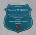 Petersberg Margretenhaun Church St Margareta Sign.png