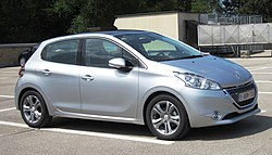 Peugeot 208 5-door on the roof