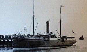 SS Peveril (1884) - Image: Peveril departing Ramsey