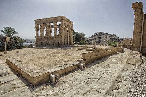 Philae, Trajan's Kiosk, Aswan, Egypt,