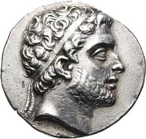 Macedonian–Carthaginian Treaty - A Macedonian coin depicting Philip V of Macedon.