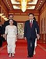 Philippine President Gloria Macapagal Arroyo visiting Korea in May 2009 (4345424932).jpg
