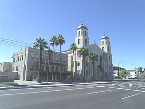 Roman Catholic Diocese of Phoenix - Immaculate Heart of Mary Catholic Church, built in 1928, is Phoenix's oldest Hispanic church. It is located at 909 E. Washington St.. It was listed in the National Register of Historic Places on October 8, 1993, ref. number 93000742