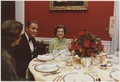 Photograph of First Lady Betty Ford Dining with Alexander Haig and an Unidentified Woman in the Red Room of the White... - NARA - 186781.tif