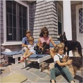 Photograph of Kennedy Family with Dogs During a Weekend at Hyannisport - NARA - 194258.tif