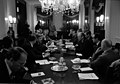 Photograph of a Meeting at Blair House between German and United States Officials to Discuss Economic and Energy Issues - NARA - 7462080.jpg