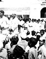 Picketing in front of Medical School at Bangalore during examination during Quit India movement organised by Indian National Congress (cropped).JPG