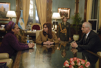 Piedad Cordoba y Cristina Fernandez