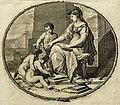 Pierre Bayle - Dictionaire historique et critique, Tome Premier A-G, Reinier Leers, Rotterdam 1697 - frontispice (cropped) - Helmed Athena instructing three children.jpg