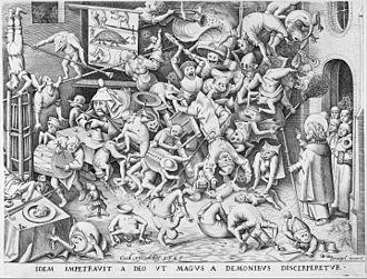 Goodman Beaver - Artists such as Pieter Bruegel the Elder had an influence on Will Elder's detailed drawings. (The Fall of the Magician, Pieter Bruegel the Elder, 1565)