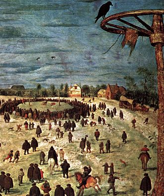 The Procession to Calvary (Bruegel) - Detail 3 from right margin