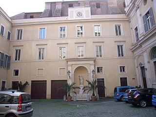 Palace of Maffei Marescotti building in Rome, Italy