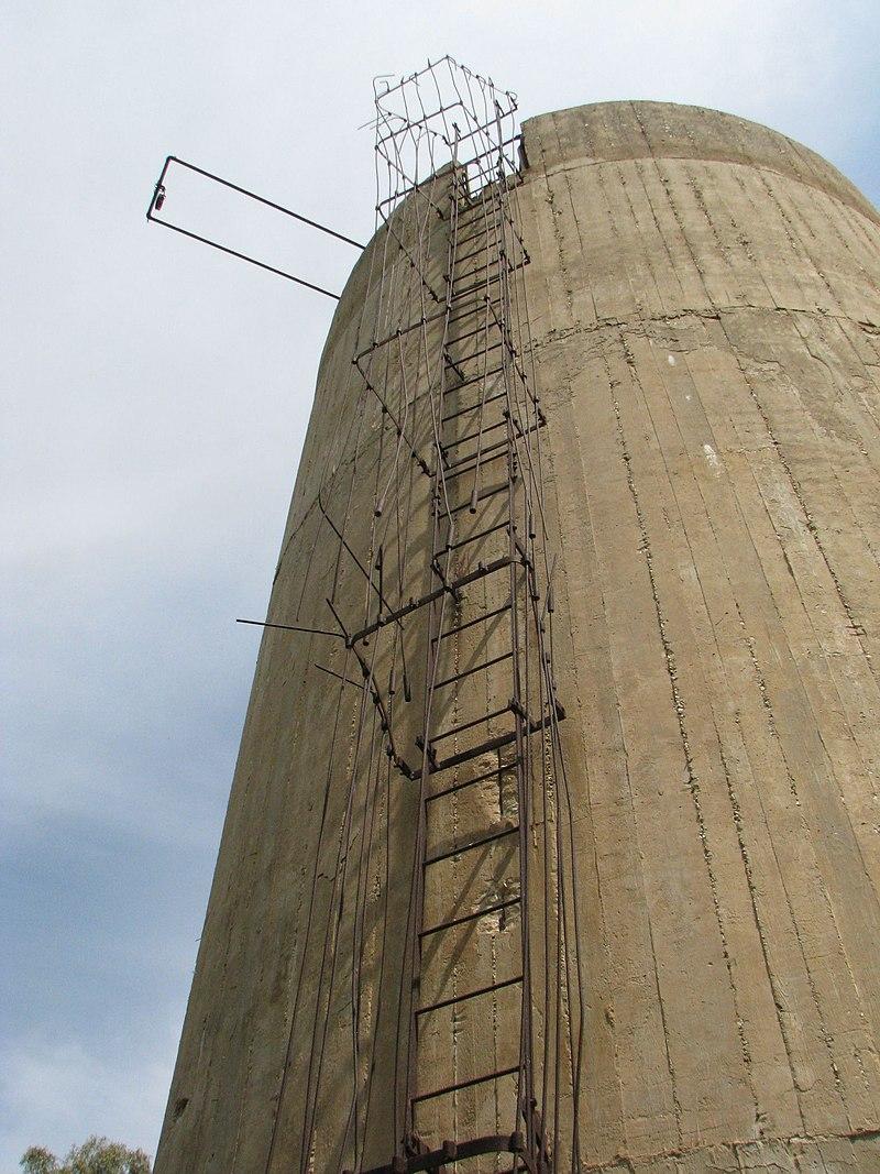 הסולם למגדל המים באילנות