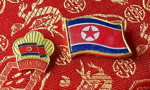 English: Pins from DPRK.
