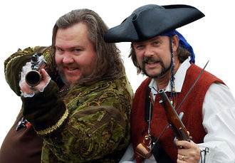"""International Talk Like a Pirate Day - """"Cap'n Slappy"""" and """"Ol' Chumbucket"""", the founders of Talk Like a Pirate Day"""