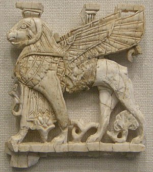 Nimrud ivories - Plaque 8th-7th century BC