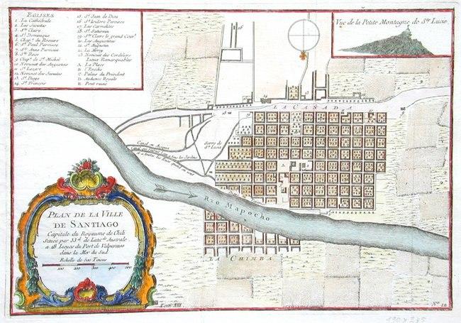Plan de la Ville de Santiago