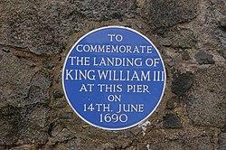 Photo of William III of England blue plaque