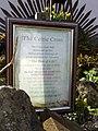 Plaque re Celtic Cross, Gospel Gardens, Holy Island - geograph.org.uk - 1239859.jpg