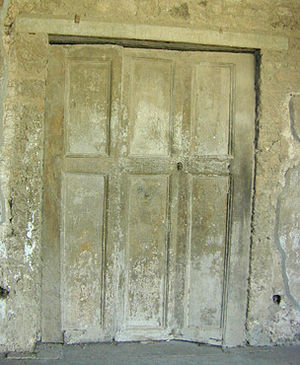 Roman folding doors from the Villa of the Myst...