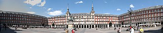 Plaza Mayor, Madrid - Three sides of the Plaza Mayor