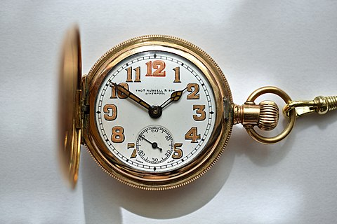 Pocket watch (Savonette) made by Thos. Russell & Son