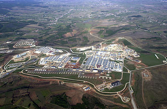 District of Ferizaj - Camp Bondsteel from above in Ferizaj