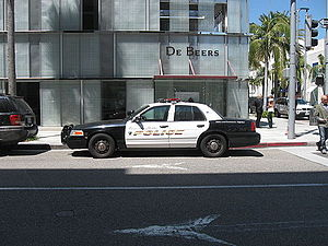 Beverly Hills Police Department - Beverly Hills Police Department car.