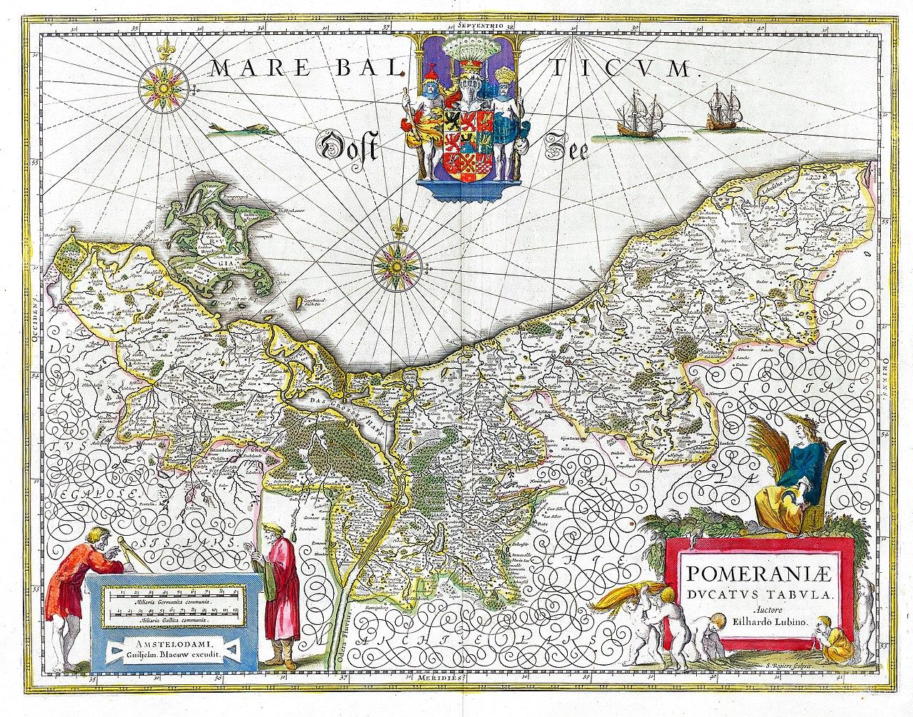 Ducato di Pomerania - Mappa