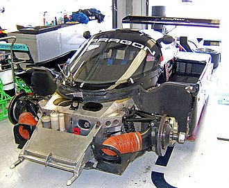 Porsche 962 - The front end of an RLR-Porsche 962C GTi chassis.