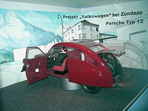 Porsche Type 12 - A scale model of the Porsche Type 12 (1932)