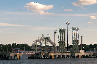 The Port of Portland in Portland, Maine is the largest tonnage seaport in New England Portland port 08.07.2012 17-54-16.jpg