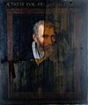 Portrait of A. Busennius 16thC, during restoration. Wellcome L0017444.jpg