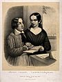Portrait of Oliver Caswell and Laura Bridgman reading emboss Wellcome V0015876.jpg