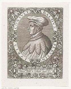 Portret van Baldus de Ubaldis Baldus Perusinus (titel op object), RP-P-1909-4311.jpg