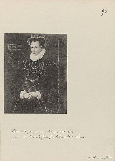 Portret van Elisabeth, gravin van Nassau, RP-P-OB-104.153