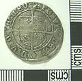 Post Medieval Coin , Groat of Henry VIII (reverse) (FindID 630978).jpg