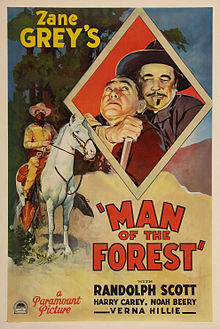 Poster - Man of the Forest (1933) 01.jpg