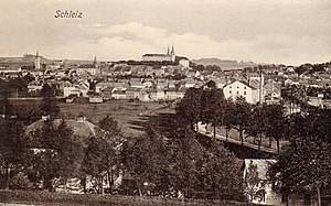 Schleiz - Postcard picture of Schleiz in 1908