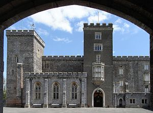 Bonville–Courtenay feud - Image: Powderham Castle From Under Gatehouse