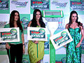 Preity, Malaika and Neha at 'Gillette PMS campaign' event 02.jpg