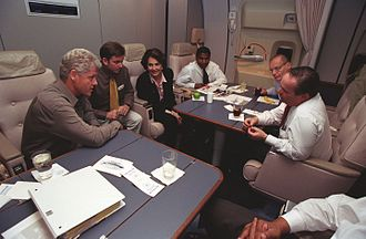 Richard Riley - Richard Riley on Air Force One with President Clinton in 1999