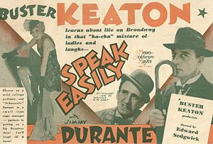 Speak Easily - Image: Pressbook herald Speak Easily 1932 Buster Keaton Jimmy Durante Thelma Todd