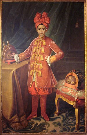 Pierre Pigneau de Behaine - Portrait of crown prince Nguyễn Phúc Cảnh in France, 1787.