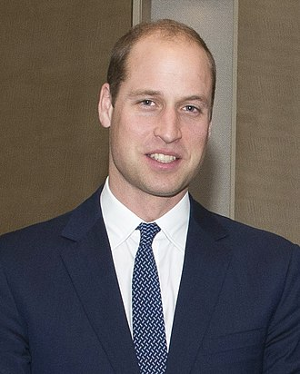 British prince - HRH The Duke of Cambridge, grandson of the Queen and elder son of the Prince of Wales.