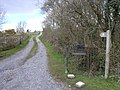 Public footpath along farm approach road - geograph.org.uk - 759563.jpg