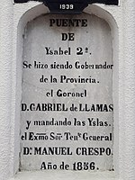 Puente de Ysabel 2ª commemorative inscription.jpg